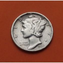 USA 10 CENTS DIME 1962 P ROOSVELT SILVER UNC