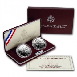 ESTADOS UNIDOS 1 DOLAR 1996 P ATLANTA REMO PLATA PROOF Silver