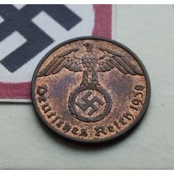 ALEMANIA 1 REICHSPFENNIG 1938 A ESVASTICA NAZI III REICH LUJO 1