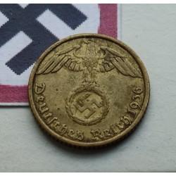 GERMANY DRITTES REICH - 5 REICHSPFENNIG 1937 E BRASS VF
