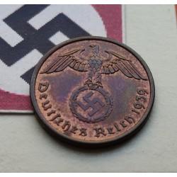 ALEMANIA 2 REICHSPFENNIG 1940 A ESVASTICA NAZI III REICH LUJO 1