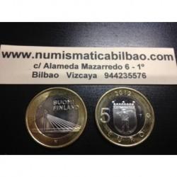 5 EUROS 2013 FINLANDIA Nº 15 LAPONIA PUENTE SC MONEDA BIMETALICA