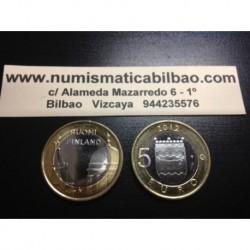 5 EUROS 2013 FINLANDIA Nº 16 UUSIMAA CUPULA SC MONEDA BIMETALICA