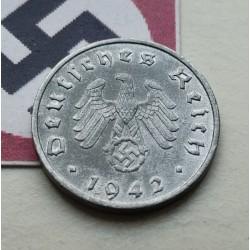 DITTRES REICH GERMANY 10 REICHSPFENNIG 1941 D SWASTIKA NAZI ZINC