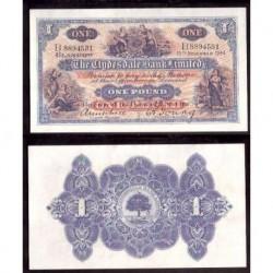 ESCOCIA 1 LIBRA 1944 CLYDESDALE BANK Pick 303.B @RARO BILLETE CASI SIN CIRCULAR@ SCOTLAND POUND AUNC