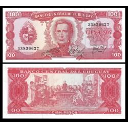 . URUGUAY 50 PESOS 1988 1989 ARTIGAS Pick 61A SC BILLETE $50