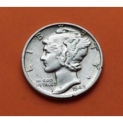USA 10 CENTS DIME 1942 P MERCURY SILVER UNCLVER