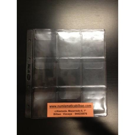 PARDO HOJA PARA MONEDAS 760 Transparente (55 milimetros)