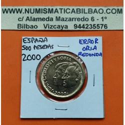 ERROR 500 PESETAS 2000 JUAN CARLOS I SC ORLA REDONDA