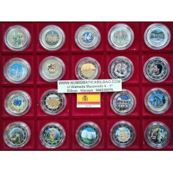 . .2 EUROS ESPAÑA 11 Monedas @COLOR@ 2005 2007...2013 2014 2015