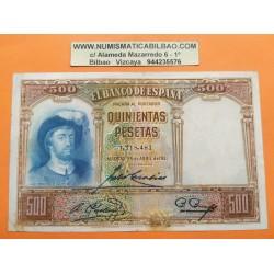 . 500 PESETAS 1931 ABRIL 25 JUAN SEBASTIAN ELCANO 423 SC ESPAÑA