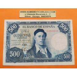 . ESPAÑA 500 PESETAS 1954 IGNACIO ZULOAGA Con Serie EBC+ c/uno
