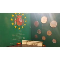ESPAÑA 1993 CARTERA FNMT SERIE 1+5+10+25+50+100+200+500 PESETAS