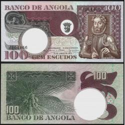 . ANGOLA 100 ESCUDOS 1972 CARMONA Pick 101 SC- BILLETE Portugal