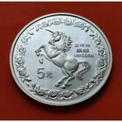 CHINA 10 YUAN 1993 OSO PANDA PLATA SC SILVER UNC Silber 1 Oz