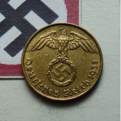 ALEMANIA 5 REICHSPFENNIG 1938 F ESVASTICA NAZI III REICH EBC+ 1