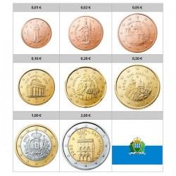FRANCIA SERIE EUROS 2000 : 1+2+5+10+20+50 Centimos 1€+2€ IMA