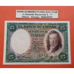 25 PESETAS 1931 ABRIL 25 VICENTE LOPEZ Sin Serie 1166 EBC ESPAÑA