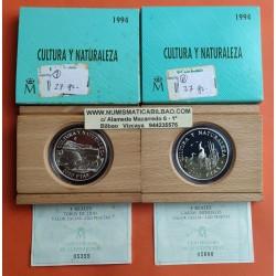 ...ESPAÑA CULTURA 2000 PESETAS 1994 GARZAS IMPERIALES PLATA SET