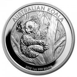 AUSTRALIA 1 DOLAR 2013 KOALA PLATA Silver $1 Dollar Oz