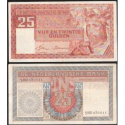 HOLANDA 25 GULDEN 1949 AMSTERDAM Rey JALOMO Pick 84 BILLETE EBC- The Netherlands banknote