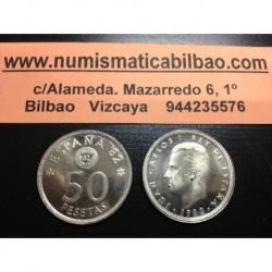 ESPAÑA 50 PESETAS 1980 * 80 MUNDIAL SIN CIRCULAR JUAN CARLOS I