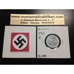 DITTRES REICH GERMANY 10 REICHSPFENNIG 1941 E SWASTIKA NAZI ZINC