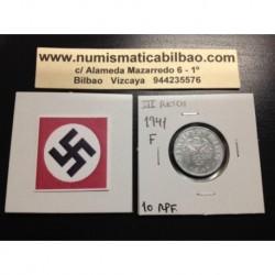 ALEMANIA 10 REICHSPFENNIG 1941 F ESVASTICA NAZI III REICH MONEDA DE ZINC