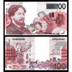. BELGICA 100 FRANCOS 1995 JAMES ENSOR Pick 147 EBC Francs