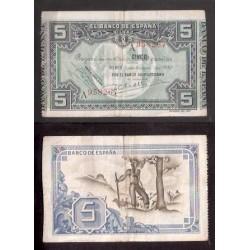 BILBAO 5 PESETAS 1937 SERIE A BANCO GUIPUZCOANO 958267