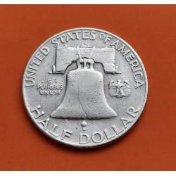 ESTADOS UNIDOS 1/2 DOLAR 1962 P FRANKLIN PLATA US HALF DOLLAR SC
