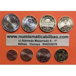 AUSTRIA SERIE EUROS 2002 : 1+2+5+10+20+50 Centimos 1€+2€ EURO