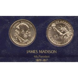 ESTADOS UNIDOS 1 DOLAR 2007 P PRESIDENTE N. 4 JAMES MADISON SC