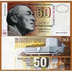 . FINLANDIA 50 MARKKAA 1986/1991 AALTO Pick 118 SC FINNLAND