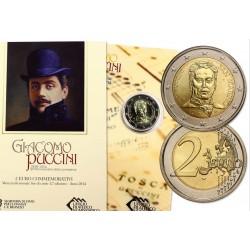 2€ EUROS 2014 SAN MARINO GIACOMO PUCCINI SC CARTERA SET