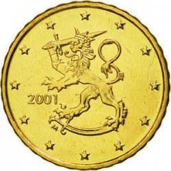 FINLANDIA 10 CENTIMOS 2001 SC MONEDA COIN Finnland Cts
