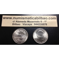 ESTADOS UNIDOS 25 CENTAVOS 2013 D PARQUE NACIONAL WHITE MOUNTAIN EN NEW HAPSHIRE MONEDA DE NICKEL SC USA QUARTER