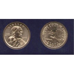 ESTADOS UNIDOS 1 DOLAR 2007 P INDIA SACAGAWEA MONEDA DE LATON SC USA $1 Dollar coin