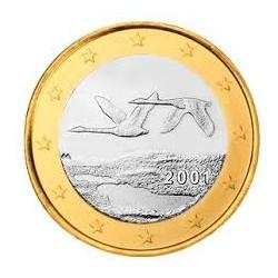FINLANDIA 1 EURO 2001 SIN CIRCULAR FINNLAND 1€ MONEDA COIN