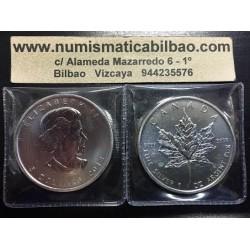 CANADA 5 DOLARES 2013 HOJA DE ARCE MONEDA DE PLATA PURA 9999 $5 DOLLARS SILVER COIN MAPLE LEAF 1 ONZA