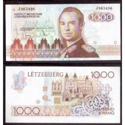 LUXEMBURGO 1000 FRANCOS 1985 GRAN DUQUE Pick 59 BILLETE SC LUXEMBOURG FRANCS UNC