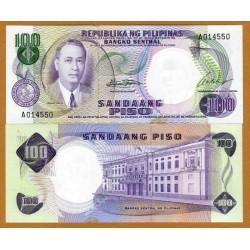 . FILIPINAS 100 PISO 1969 (1949) MANUEL ROXAS Pick 147B SC UNC