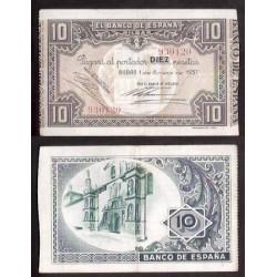 1937 EUSKADI 10 PESETAS BANCO de VIZCAYA SC- 930120 BILBAO