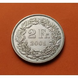 SUIZA 2 FRANCOS 2001 B GUILLERMO TELL y VALOR KM.40A MONEDA DE NICKEL SC- Switzerland 5 Francs