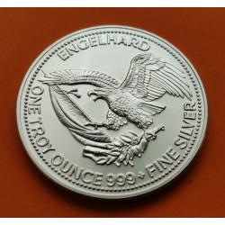 @RARA@ ESTADOS UNIDOS 1 ONZA 1987 THE AMERICAN PROSPECTOR ENGELHARD MONEDA DE PLATA SC One Troy Ounce silver
