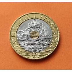FRANCIA 20 FRANCOS 1992 MONTE SAINT MICHEL KM.1008 MONEDA BIMETALICA EBC- France 20 Francs