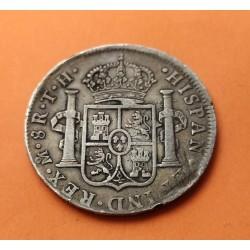 @1 RESELLO CHINO@ ESPAÑA Rey CARLOS IIII 8 REALES 1805 TH Ceca de MEXICO KM.109 MONEDA DE PLATA Spain colonial silver coin