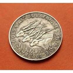 CONGO Africa 100 FRANCOS 1971 ANTILOPES NICKEL EBC KM*56
