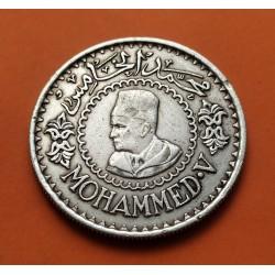 MARRUECOS 500 FRANCOS 1956 REY MOHAMED V KM.54 MONEDA DE PLATA MBC Morocco silver 500 Francs R2