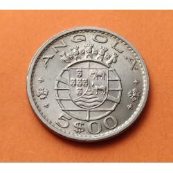 ANGOLA 5 ESCUDOS 1972 ESCUDO REPUBLICA PORTUGUESA KM.81 MONEDA DE NICKEL SC @ESCASA@ Africa Portugal